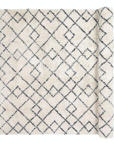 broste copenhagen tapis scandinave ethnique janson ivoire y noir 200x300cm broste copenhagen