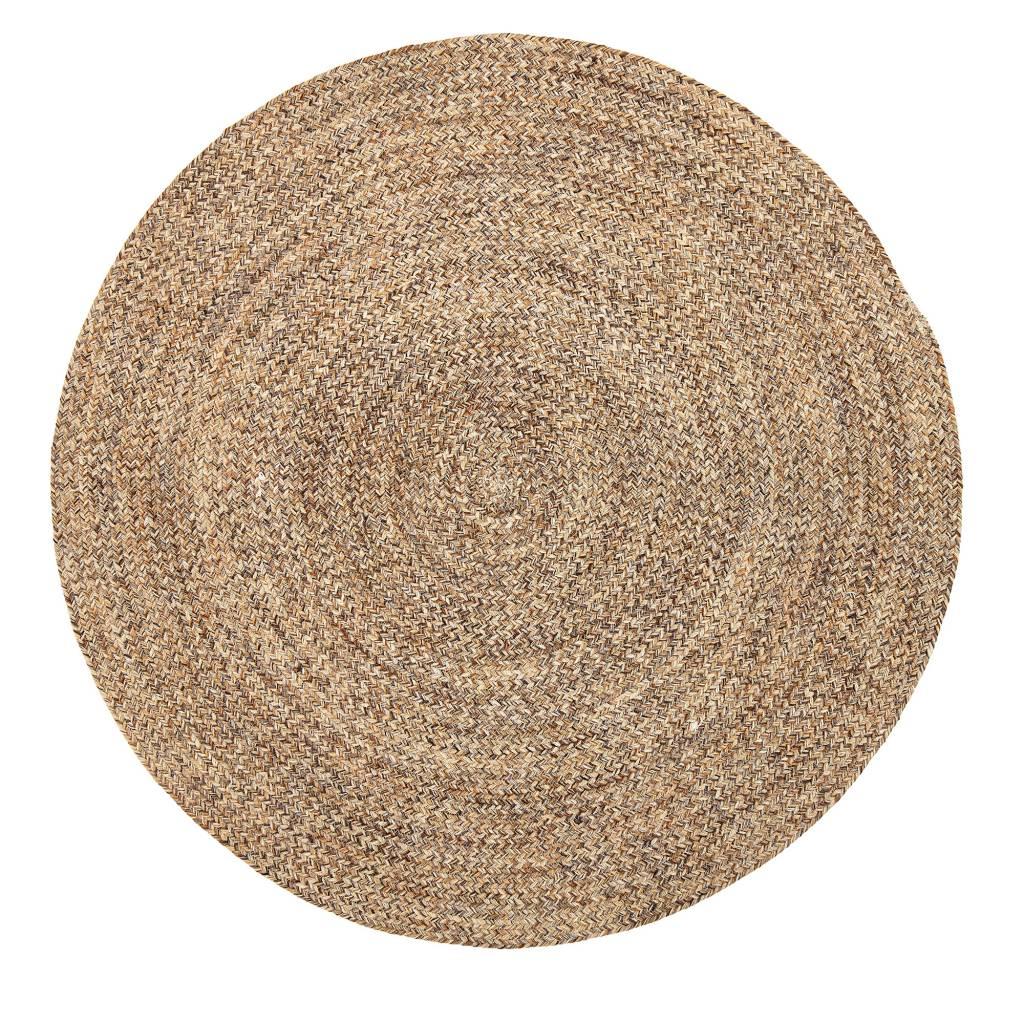 bloomingville tapis rond laine naturel o120cm bloomingville