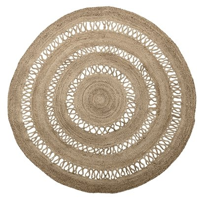tapis rond toile de jute naturel o182cm bloomingville