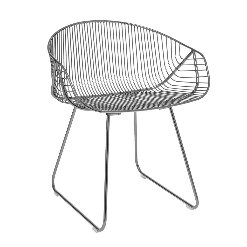 Bloomingville River Lounge Chair Grey Metal