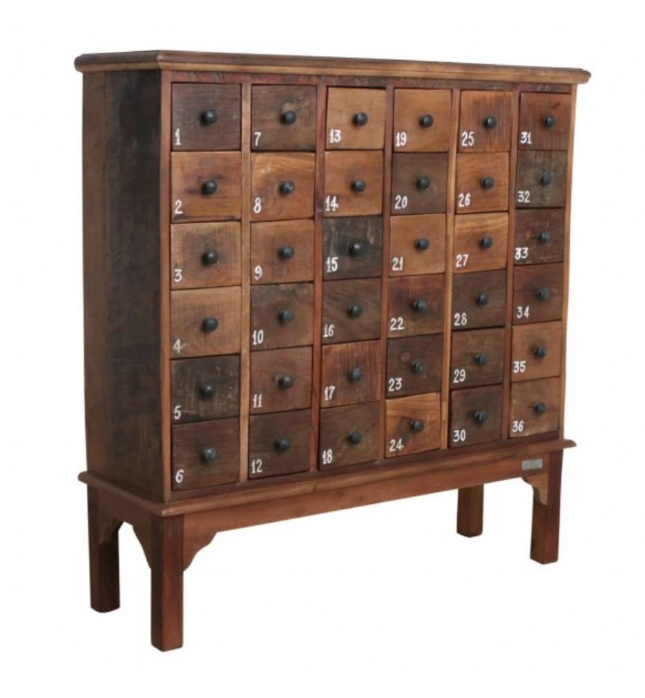 petite lily interiors meuble de metier d atelier bois 36 tiroirs 105x32x110cm piece unique