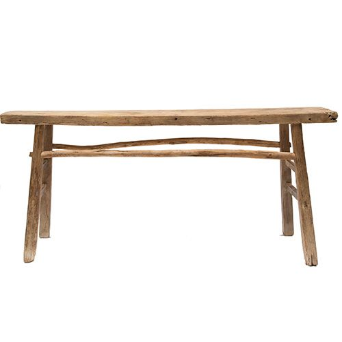 petite lily interiors console table vintage 160cm elm wood