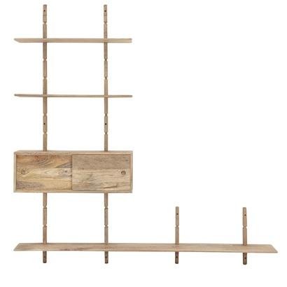 bloomingville etagere meuble tv bois l210xh218xw28cm bloomingville