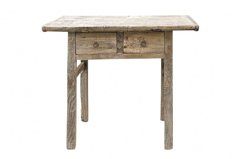 table console avec tiroir bois brut 95x53xh82cm piece unique
