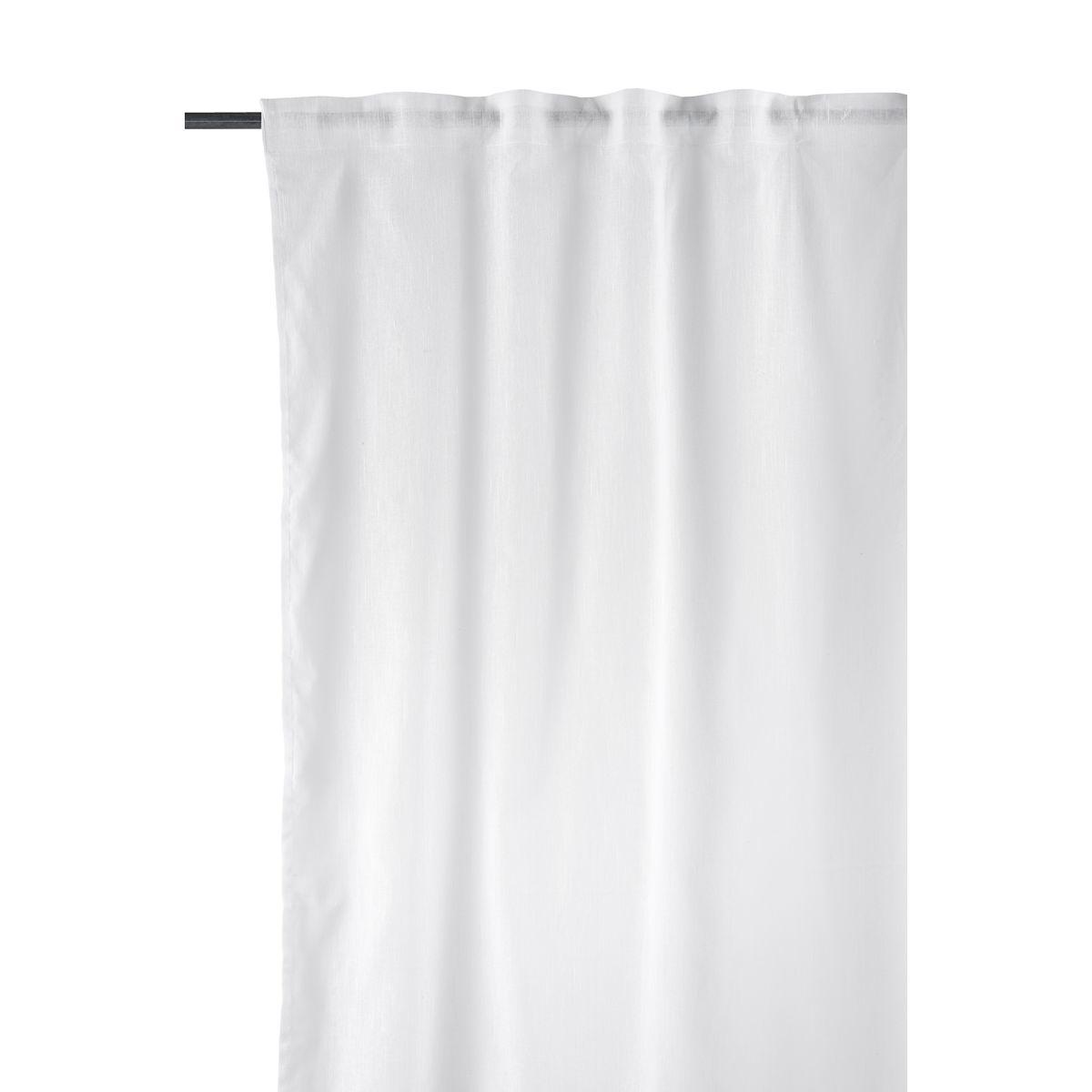 lot de 2 rideaux lin blanc 150x300cm house doctor