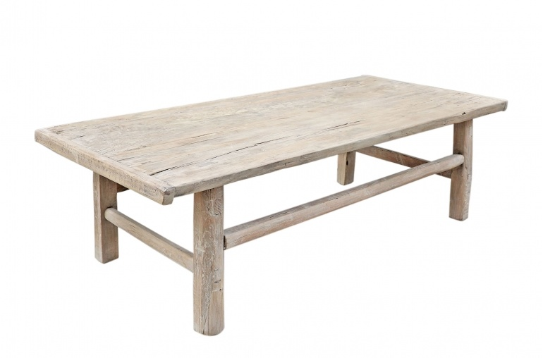 snowdrops copenhagen coffee table elm wood 131x62xh43cm unique piece