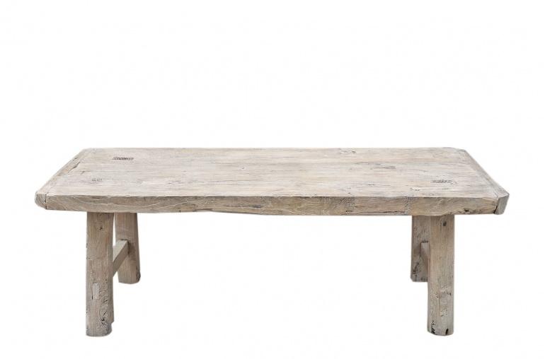 snowdrops copenhagen coffee table elm wood 118x47xh42cm unique piece