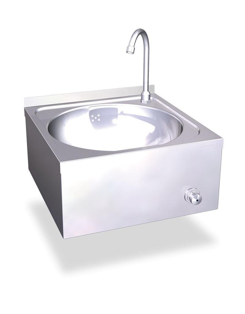 knee operated hand wash basin