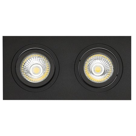 double recessed spot black hole size 80 175mm outside size 95 190 mm