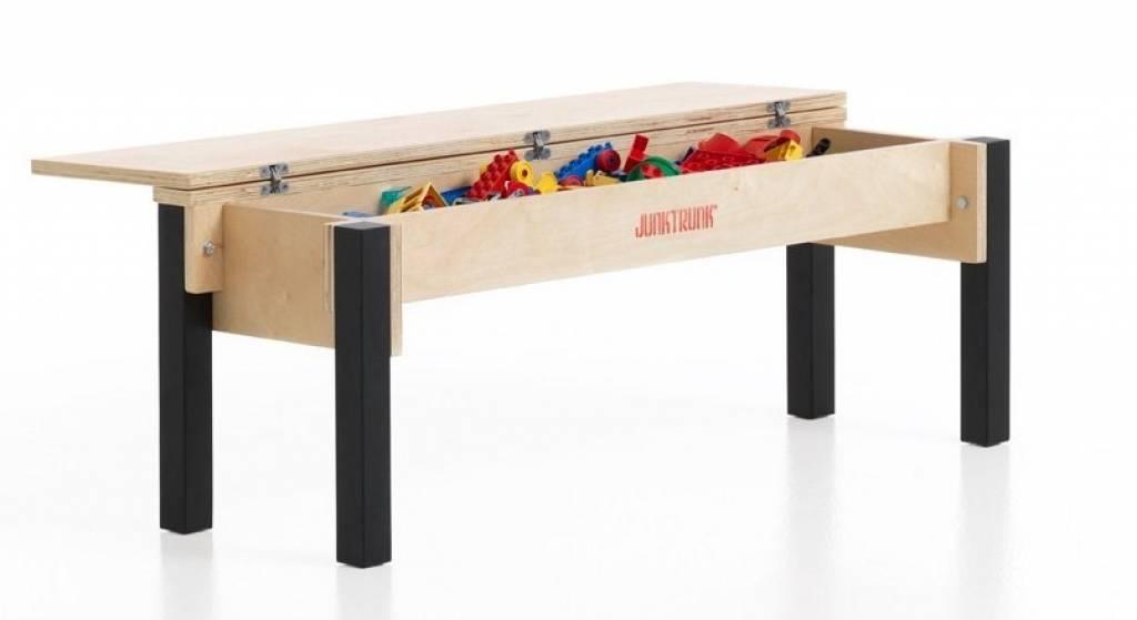 banc coffre a jouet en bois