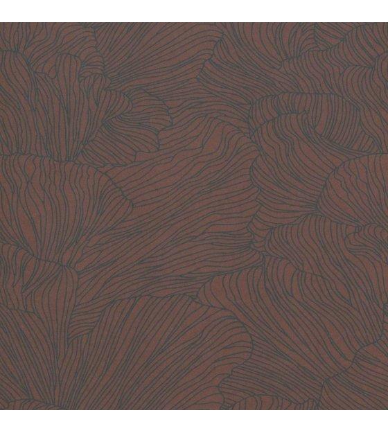 ferm living papier peint corail bordeaux rouge bleu fonce 53x1000cm