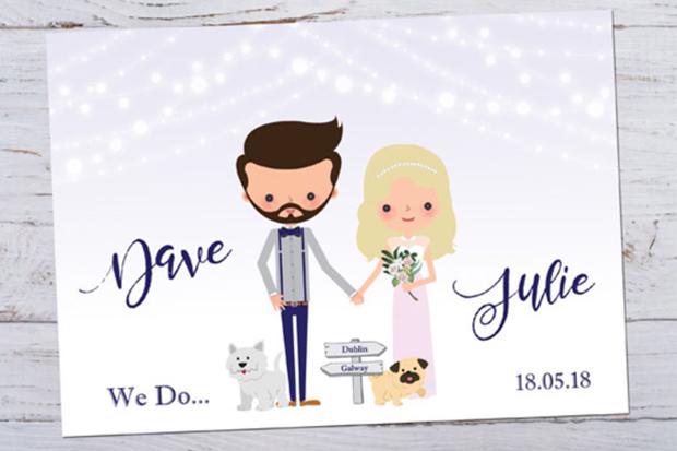Cute Customised Wedding Invitations Of The Hy