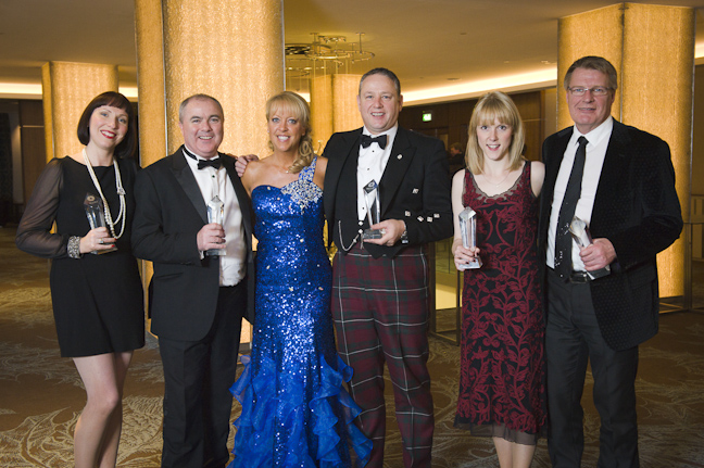 From L to R - Ailsa Proverbs, Pete Higgins, Belinda Roberts, Dougie Walker, Kirsty Mackenzie & Gordon White