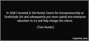 Click on the image to visit the Hunter Centre for Entrepreneurship website