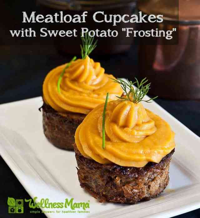 Meatloaf Cupcakes with Sweet Potato Frosting - easy kid approved dinner idea