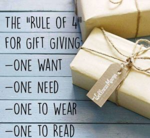 The Rule of 4 for gift giving