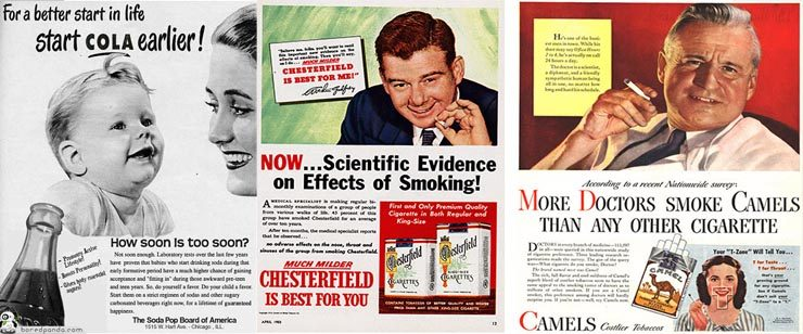 Vintage Ads that show things we once thought were safe