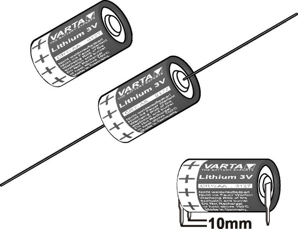 Cr 3v Lithium Aa Varta Batteries Primary