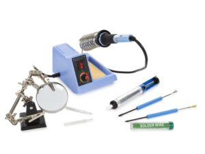 SOLDERING STATION KIT WITH ADJUSTABLE TEMPERATURE - 40-48 W - 150-450°C