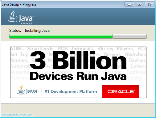 Install Java on Windows - WhatIsMyBrowser.com