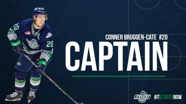 Conner Bruggen-Cate Named Team Captain – Seattle Thunderbirds