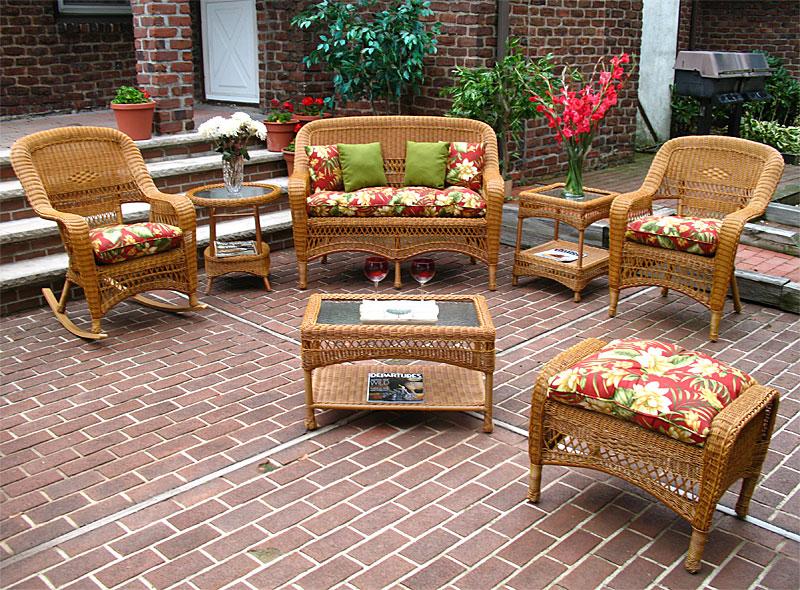 wicker golden honey bel aire outdoor