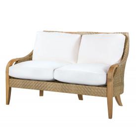 outdoor resin wicker love seats