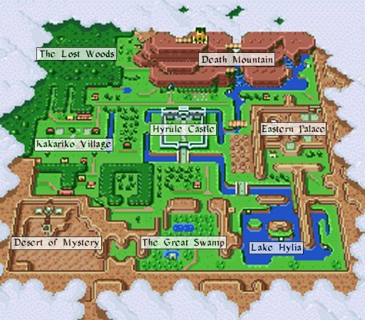 The Legend Of Zelda A Link To The PastLight World