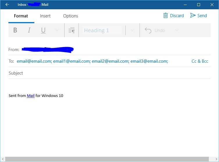 How To Send Email To A Contact Group On Windows 10
