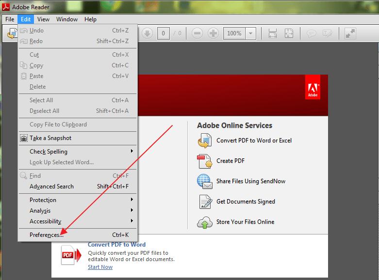 pdf files-preferences