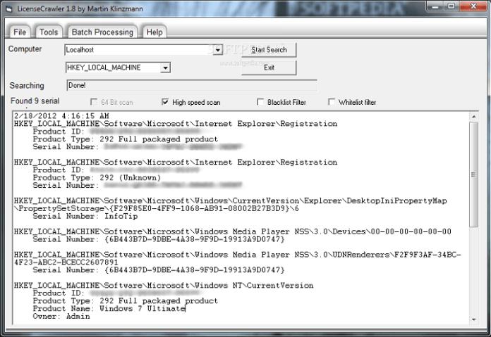 giấy phép thu thập thông tin cửa sổ 10