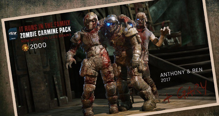 Gears Of War 4s Zombie Carmine Pack And Locust Grenadier