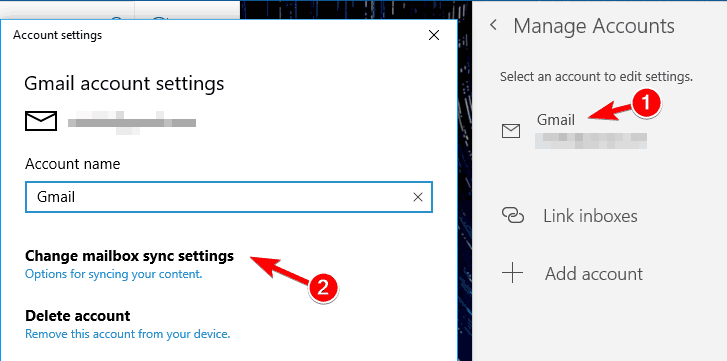 Mail app is not working in Windows 10 keeps crashing