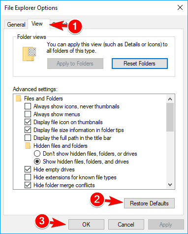 view file explorer options Thumbnail previews not showing