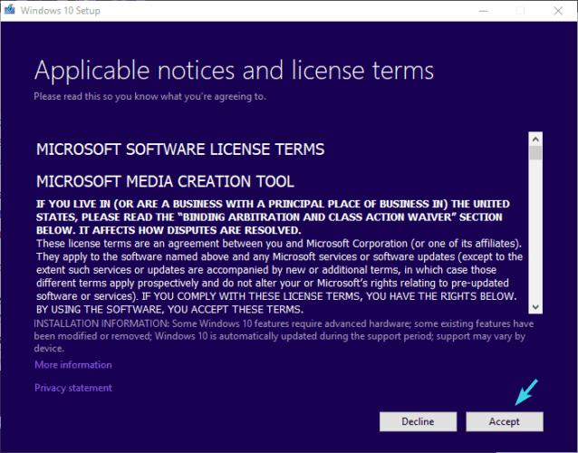 license terms accept installation error 0xc000021a