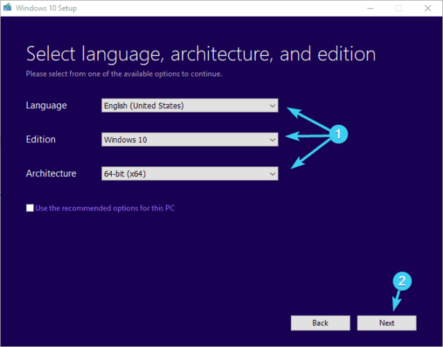 select language and edition installation error 0xc000021a