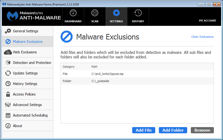 antivirus blocking exe files