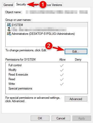 edit Can't delete file Access Denied