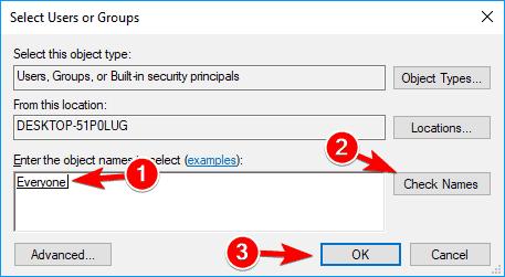 check names File Access Denied external hard drive