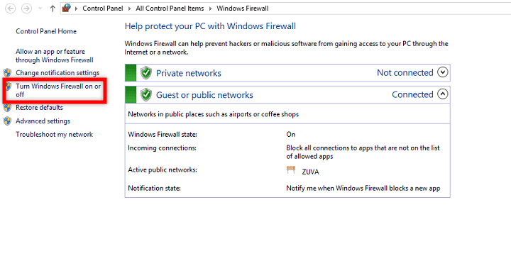 Turn on Windows Firewall Application was unable to start correctly 0xc0000005