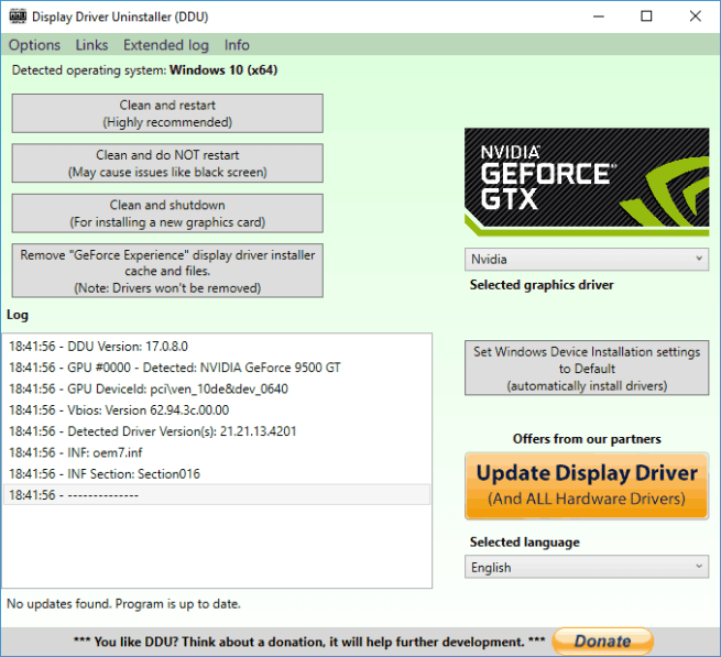 Nvidia display driver delete old versions