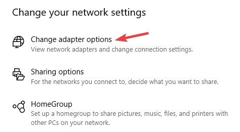 A network change was detected Windows 7