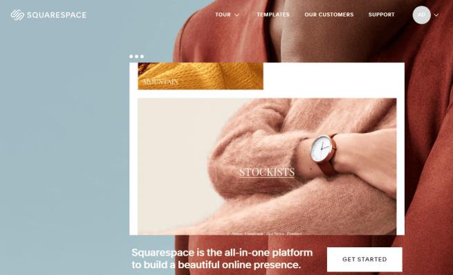 SquareSpace Homepage - best website design software