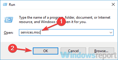 folder encrypt grayed out services run window