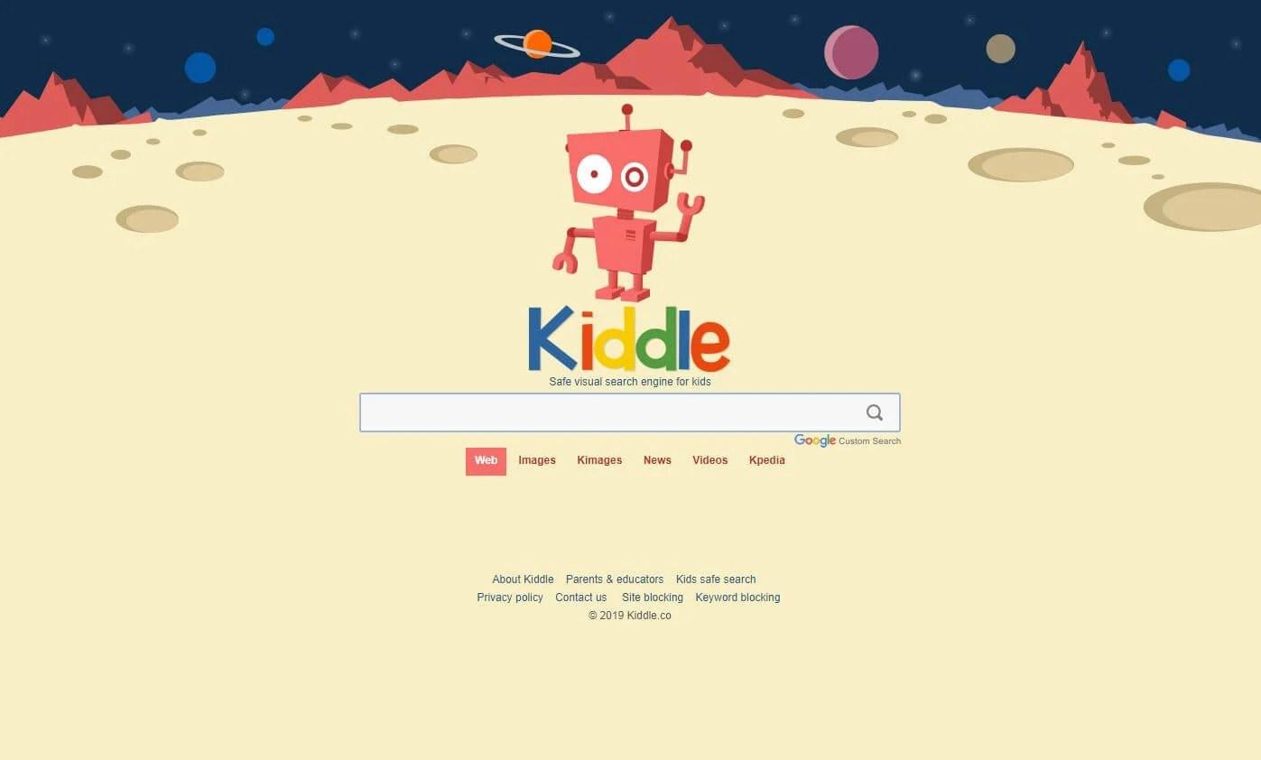 Kiddle browser for parental control