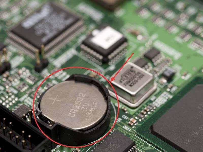 reset bios password cmos battery