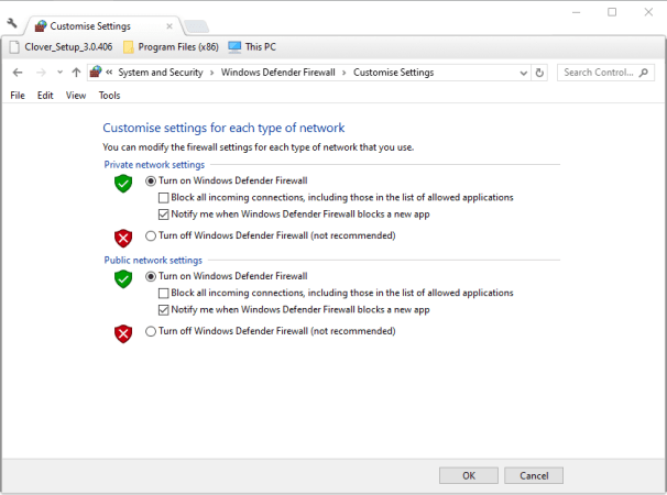Turn off Windows Defender Firewall option counter strike not connecting to server