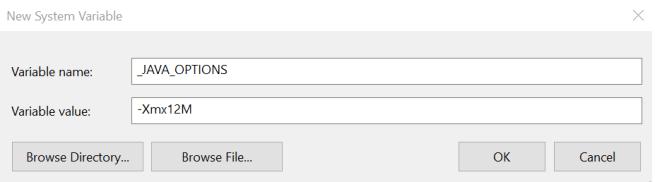 Java Minecraft RAM error