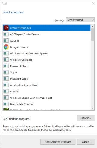 Add window minecraft not using gpu