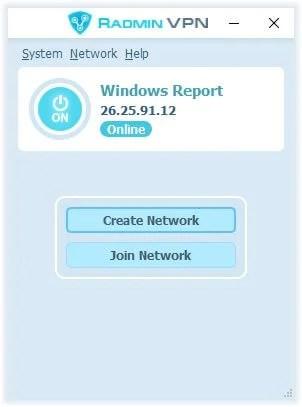 Main screen Radmin VPN